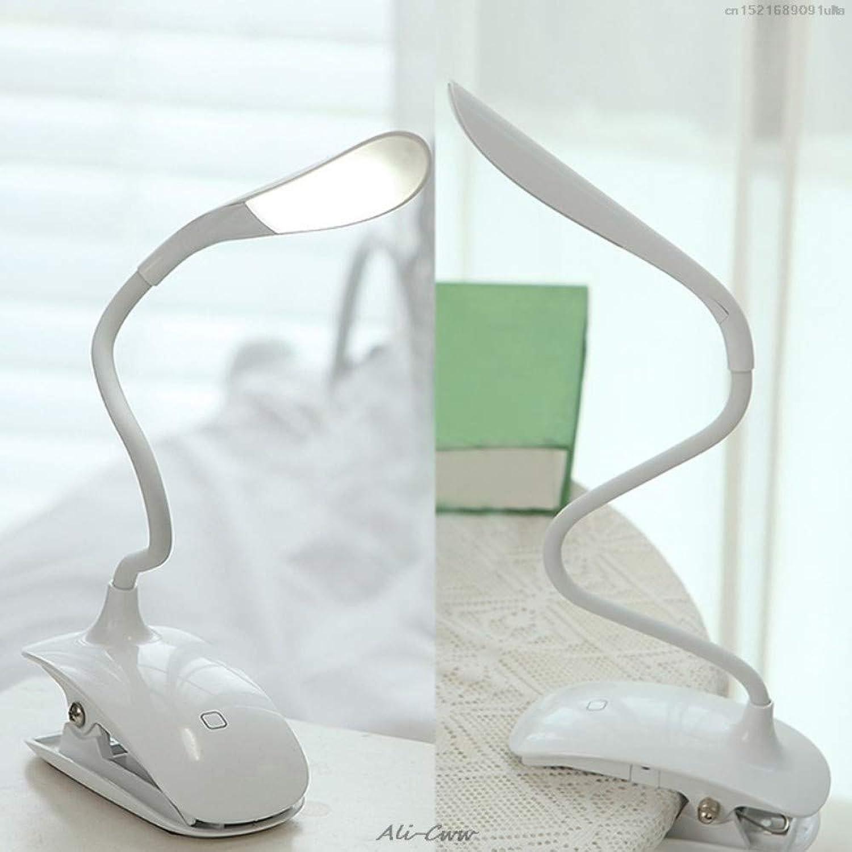 Tischleuchte Dimmbare USB-wiederaufladbare Berührungssensor-LED-Clip-On-Leselampe für Schreibtischlampe