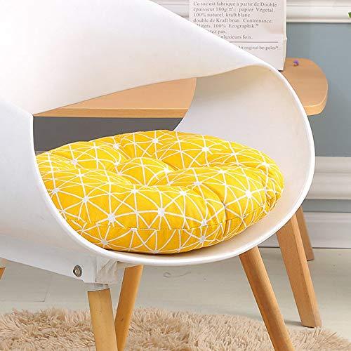 RAQ Zitkussen voor bureaustoel, zitkussen voor computerstoel, rond kussen, sofakussen, traditioneel zitkussen voor studenten 45x45cm Oranje.