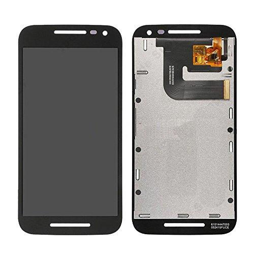Motorola Moto G3 XT1540 XT1541 XT1543 XT1544 XT1550 LCD Pantalla Táctil Digitalizador Vidrio Completa Reemplazo y Herramientas (Negro)