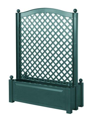 KHW 37103 Pflanzkasten mit Zentral-Spalier 100 cm, grün