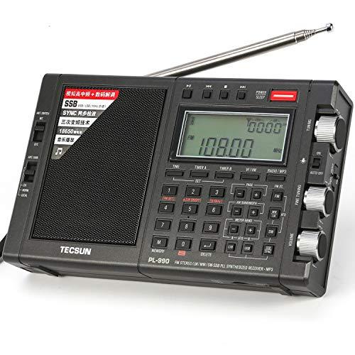 TECSUN PL-990 Radio Estéreo Portátil Sintonización Digital de Banda Completa de Alto...