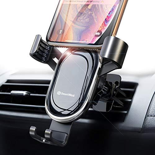 DesertWest Auto Handyhalterung Lüftung Universal Handy Halterung Schwerkraft Handyhalter für Auto handfreie Smart KFZ Halterung Kompatibel mit iPhone 11, Samsung M30 A50, Redmi Note 8Pro, Huawei P30