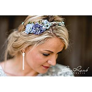 Brauthaarband Blumenkranz Blüten Diadem Braut Frisur Hochzeit Boho C3