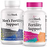 Pink Stork & Blue Stork Fertility Supplement Bundle: Fertility Supplements for Women & Men, + Support Hormones + Conception + Reproductive Wellness + Fertility Prenatal Vitamins