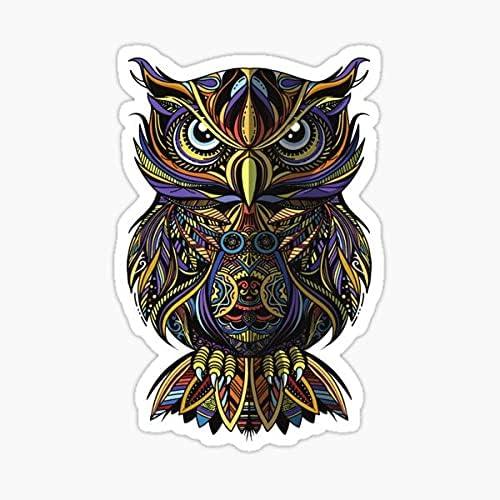Folk owl in Zentangle Style 5 ☆ very popular Quality Skull Premium Today's only Sticker Sugar
