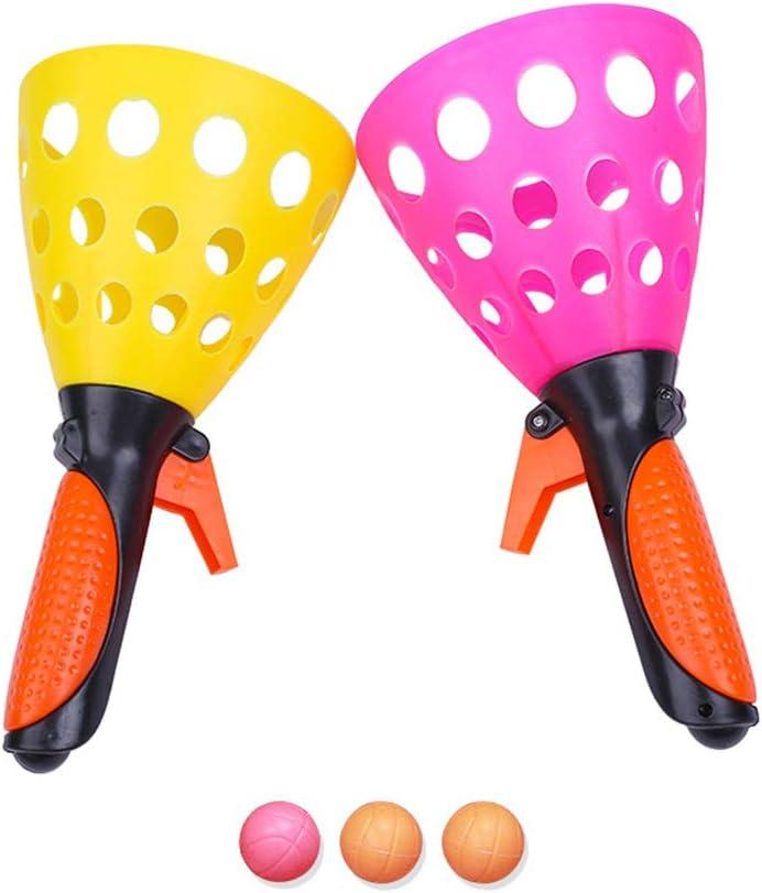Hihey Pelota de Ping Pong Juguete Padre-Hijo catapulta interactiva Tenis de Mesa Pelota de Inicio para niños Pelotas de Goma Pelotas de Tenis de Mesa al Aire Libre Juguete