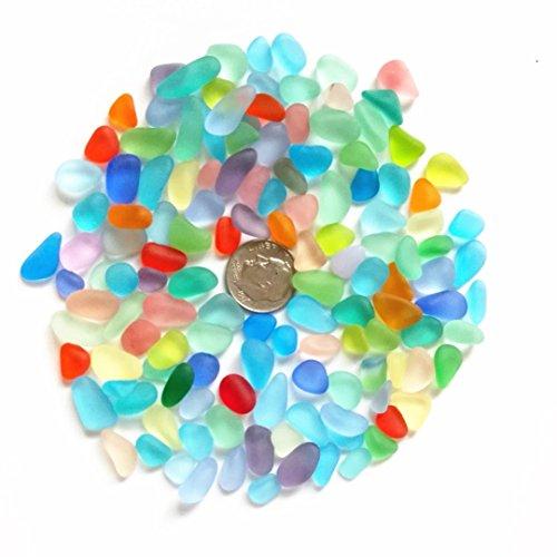 Perline di vetro di mare/spiaggia perline di vetro per fare gioielli (taglia piccola/8–12mm, arcobaleno multicolore mix, non forato), 100 pieces