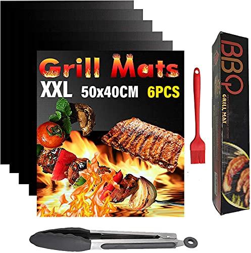 Mgee Estera de Barbacoa 6 Piezas Tapete Parrilla Barbacoa 50x40cm BBQ Grill...