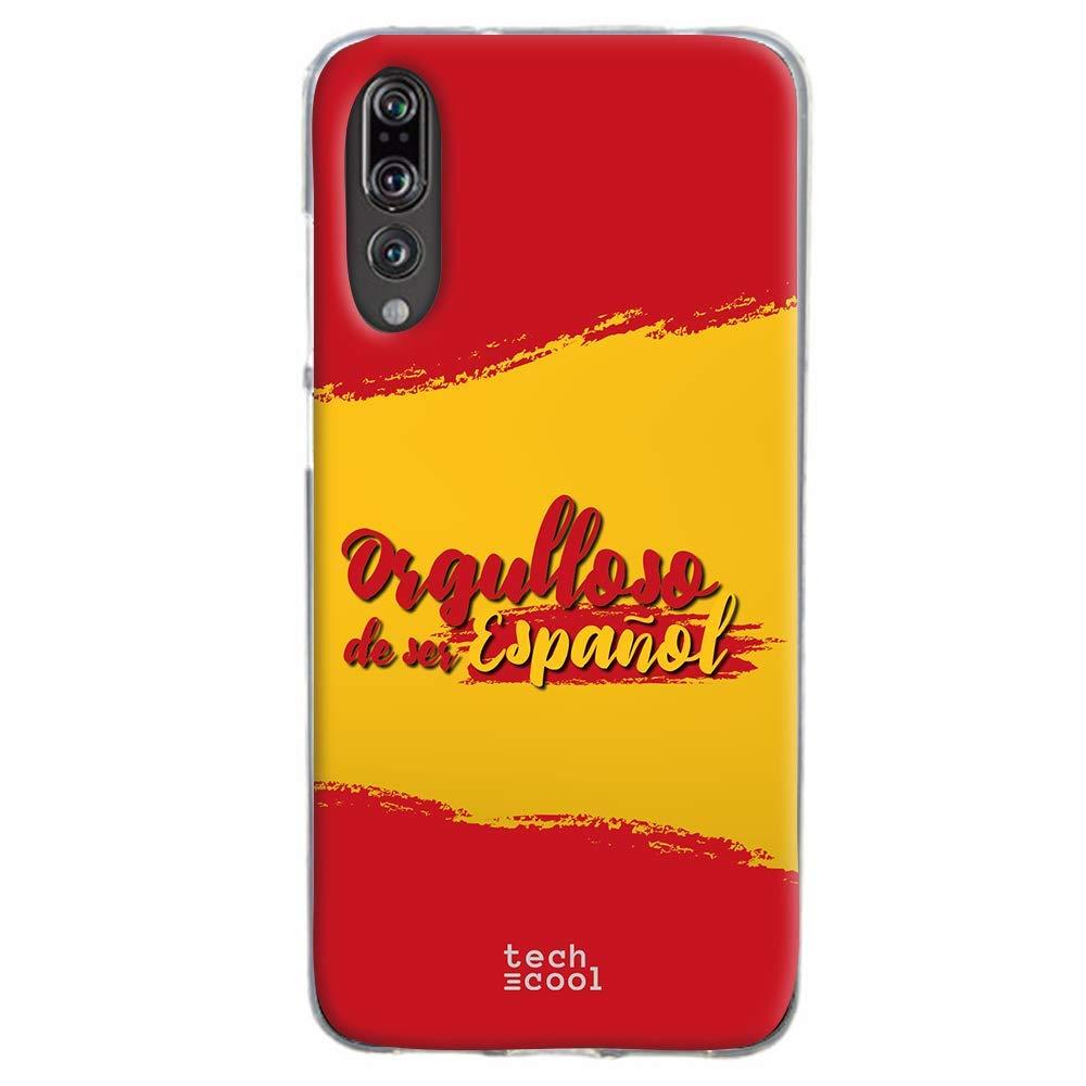 Funnytech® Funda Silicona para Huawei P20 Pro [Gel Silicona Flexible, Diseño Exclusivo] Bandera España Orgulloso: Amazon.es: Electrónica