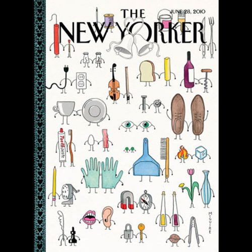 Couverture de The New Yorker, June 28th, 2010 (Calvin Tomkins, Anthony Lane, Nancy Franklin)
