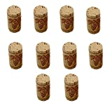 Electomania 10 pcs Natural Wine Corks Premium Straight Cork Stopper Excellent for Bottled Wine