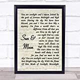 #Miss #Saigon #Musical #Sun and Moon Vintage Script Song Lyric Music Poster Wall Art Home Decor Gifts for Lovers Painting