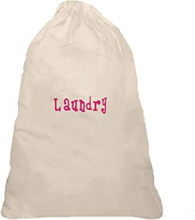 LD Bags Personalized Drawstring Laundry Bag with Monogram