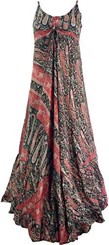 Guru-Shop Maxikleid, Boho Sommerkleid, Damen, Schwarz, Synthetisch, Size:38, Lange & Midi-Kleider Alternative Bekleidung