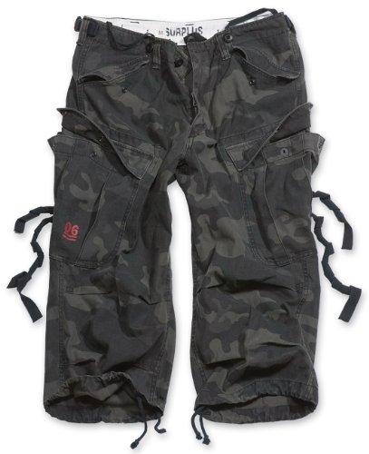 Surplus Raw Vintage Engineer Vintage 3/4 Shorts, Blackcamo, XL