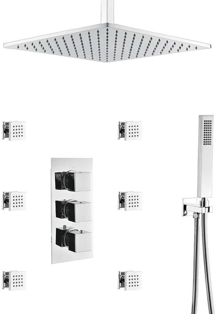 HOMEDEC Thermostatic 16inch shower Bathroom