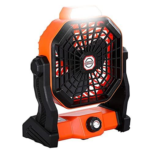 zhangsan Ventilador portátil de camping con luces LED, USB, recargable, silencioso, multifunción, para exterior, hogar, oficina, viaje