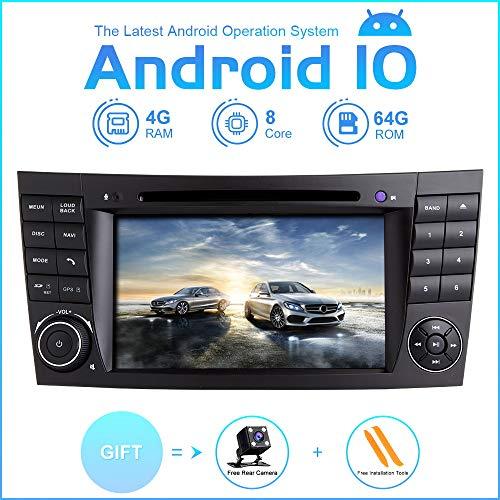 ZLTOOPAI Autoradio Stereo für Mercedes Benz E-Klasse W211 CLS W219 Android 10 Octa Core 4G RAM 64G ROM 7 Zoll IPS Bildschirm Double DIN In Armaturenbrett Auto GPS Navigation DVD Player