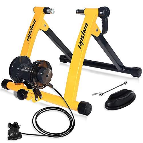 UNIKSY - Soporte magnético para bicicleta, ideal para entrenamientos de resistencia con cable, Amarillo y negro.