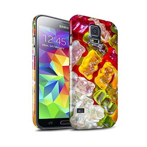 STUFF4 Lucidare Duro Snap On Custodia/Cover/Caso/Cassa del Telefono per Samsung Galaxy S5/SV / Orsetti Gommosi / Confetteria disegno