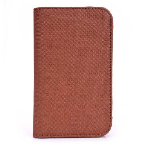 Kroo Men's Bifold for 5-Inch Smartphone - Frustration-Free Packaging - Brown