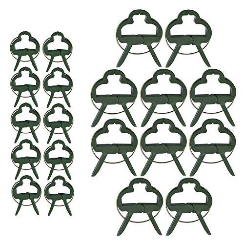 Anjing 60 Stück Garten Pflanzenklammern Verstellbare Unterstützung Pflanzenklammern für Reben Garten Gemüse