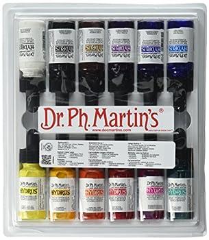 Dr Ph Martin s 400261-XXX Hydrus Fine Art Watercolor Bottles 0.5 oz Set of 12  Set 1