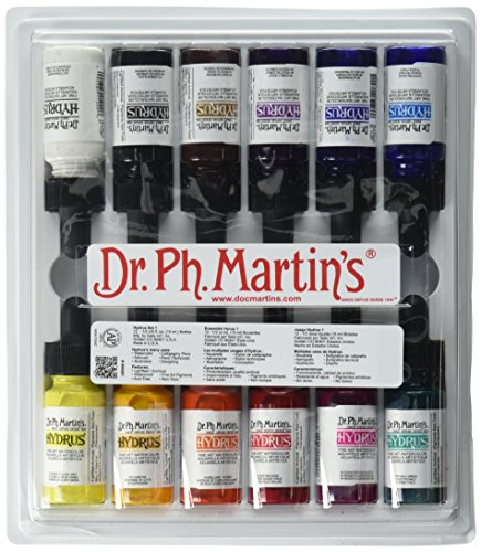 Dr. Ph. Martin's Hydrus Fine Art Watercolor, 0.5 oz, Set 1 Colors 6 Fl Oz