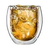 tea exclusive - XL-Thermo-Glas 400ml (Thermoglas, doppelwandig) für Tee, Kaffee, Eistee, Saft, Dessert, Cocktails, etc. - im Geschenkkarton