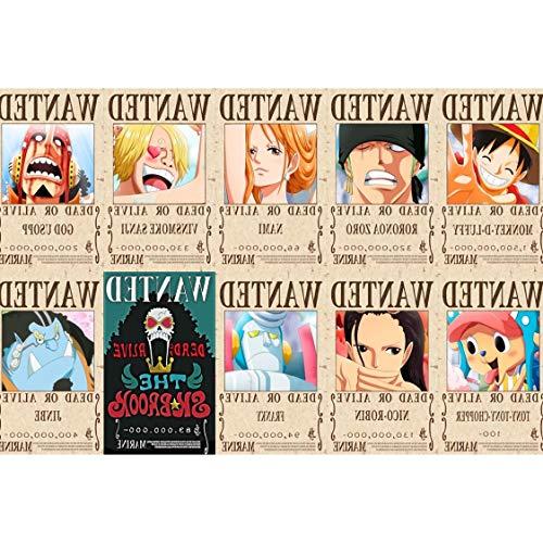 DIU One Piece One Piece Super King Puzzle 1000 Piezas de madera Adulto Luffy Se busca una caricatura Orden 1,5 mil millones de piezas de madera 1000 piezas para enviar un póster grande