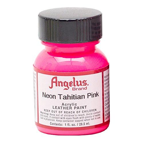 Angelus Leather Paint 1 oz Neon Tahitian Pink