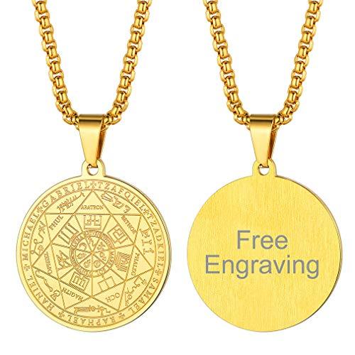 FaithHeart Collier Talisman de Médaille Sceau des 7 Archange