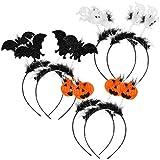 Photo de com-four® Diadème Halloween 6x avec différents modèles pour enfants et adultes - serre-tête pour carnaval, carnaval et halloween - déguisement (06 pièces - Motive Mix2)