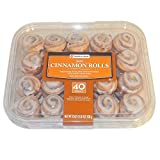 Package contains 40 mini cinnamon rolls covered with a sweet white icing Re-sealable package Net weight: 33 oz. Bite-size product May be frozen after purchase