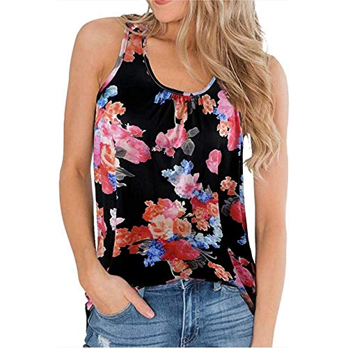 ZFQQ 2020 Sommer Modetrend gedruckt U-Ausschnitt Weste weibliches T-Shirt