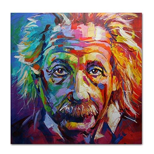 Pintura al óleo del arte abstracto Einstein decoración de la pared Imágenes for la sala de estar clásica figura decorativa Pósteres Láminas de Pintura Pintura de la ( Size (Inch) : 20x20CM NO FRAME )