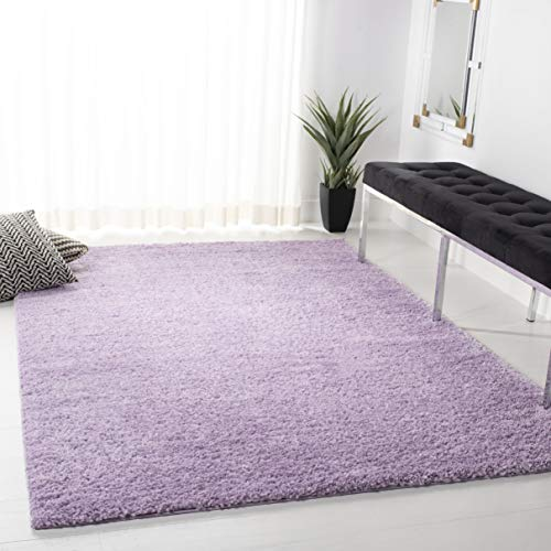 Safavieh August Shag Collection AUG900V 1.18-inch Thick Area Rug, 4' x 6', Lilac