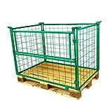 5er Set Gitter-aufsatzrahmen Gitterbox 1200x800x800mm Nutzhöhe 800mm grün faltbar für...