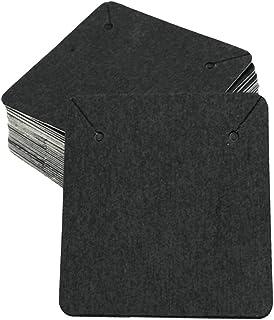gazechimp 100x Supports Carton Presentoir de Boucle d'oreille en Papier Kraft Carte Affichage pour Bijoux Collier