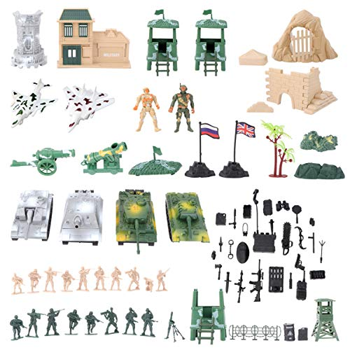 TomaiBaby 200Pcs / 1 Set Soldier Playset Fuerzas Especiales Figuras de Acción Hombres Rangers Swat Modelos con Armas Y Accesorios Counter Strike Juguetes
