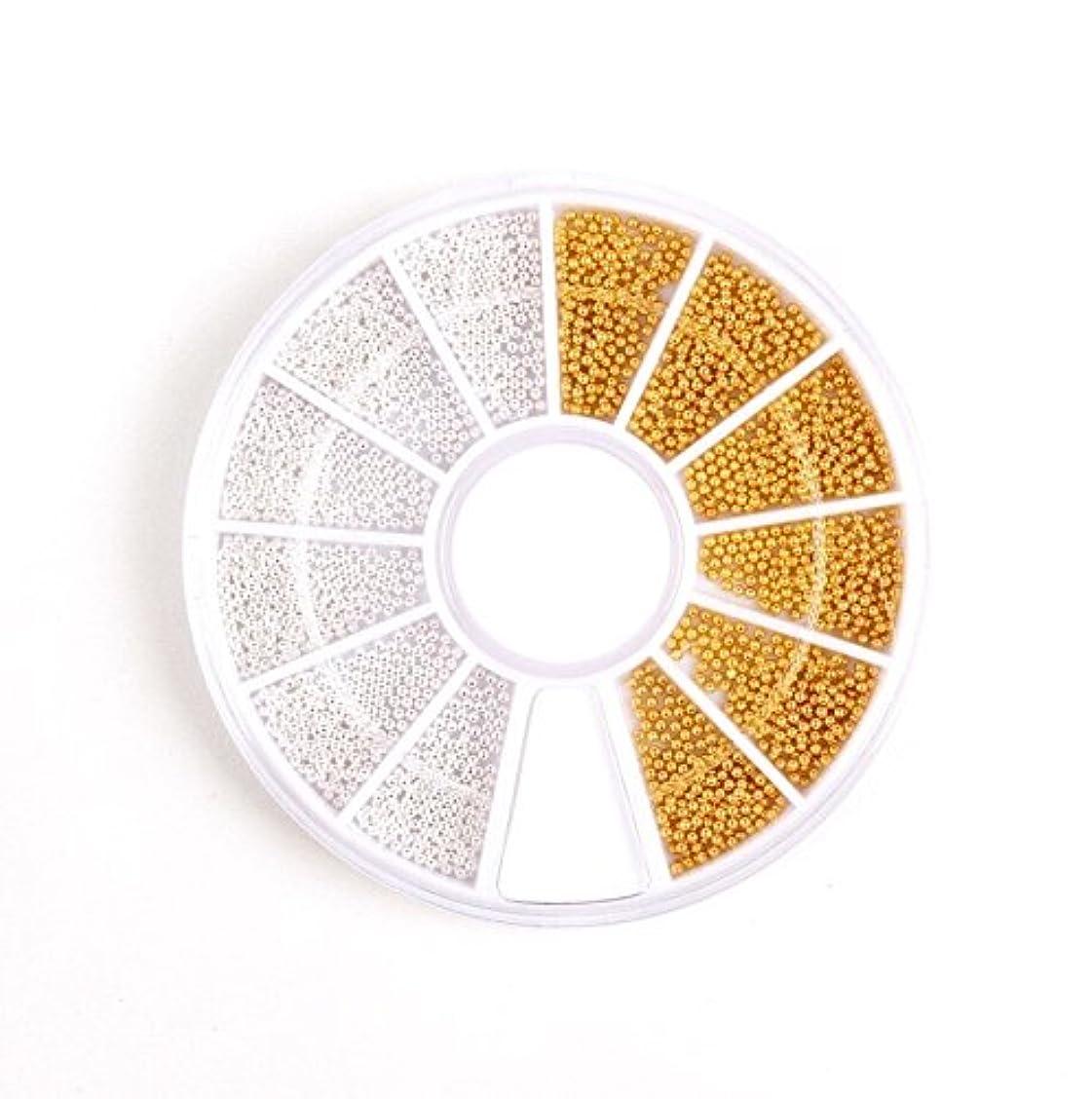 ラッドヤードキップリング香水頭【ネイルウーマン】ブリオン 2色セット (ゴールド&シルバー) レジン ケース付き