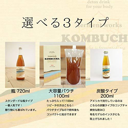fermentworksKOMBUCHAclassic[国産無添加クラフトコンブチャ/紅茶キノコ/ストレートタイプ]720ml