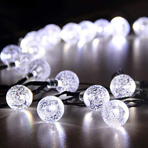 Blase Ball Kristallkugel Solar Lichterkette Im Freien Wasserdichte Weihnachtslicht Garten Dekoration Licht Acht Funktion 200LED A