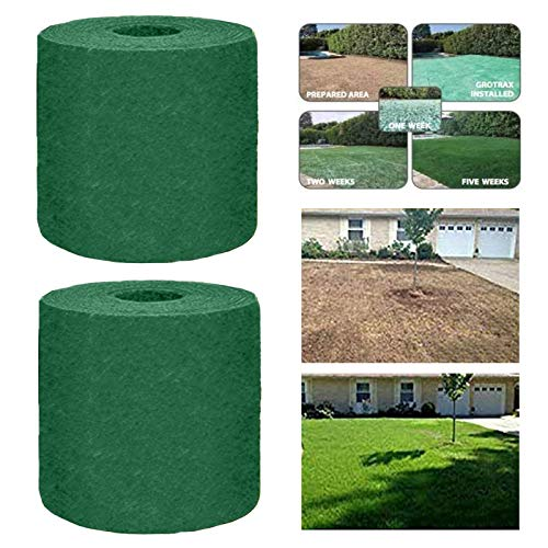 Grass Seed Mat Roll – Biodegradable Lawn Seed Mat – Backyard Plant Growing Grass Seed Germination Blanket one-Piece Solution-just Water and Grow-not Fake or Artificial Turf