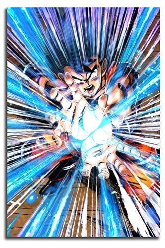 MRFSY Dragon Ball Legends Extreme Goku 3D - Arte pintado a mano para pared del hogar, 60,96 x 91,44 cm