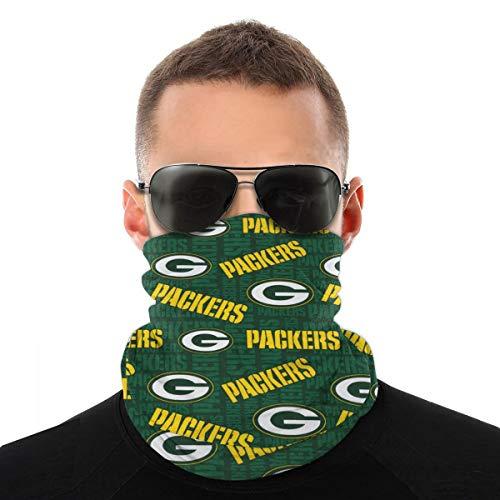 Face Shield Bandanas Balaclavas Neck Gaiter Face Scarf Anti Dust 3D Print American Football Team for Outdoor Sports Green Bay Packers