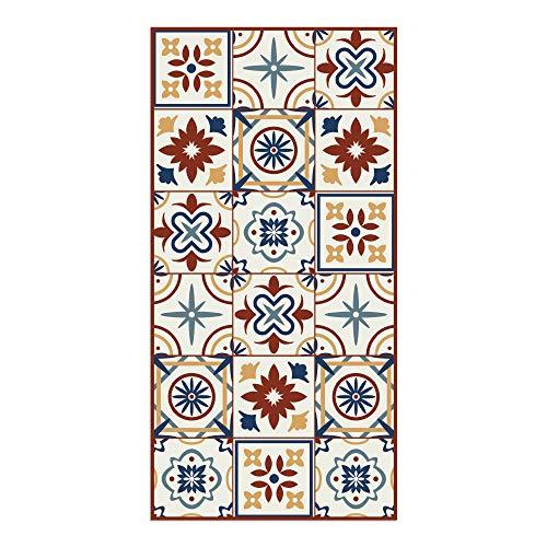 DON LETRA Alfombra Vinílica de Baldosas para Salón y Cocina, 120 x 60 cm, Antideslizante y Lavable, Grosor de 2 mm, Color Beige, ALV-038