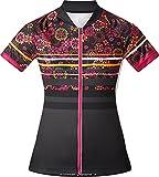 Nakamura Damen Tiara Fahrrad-Trikot, Black/Multicolor, 42