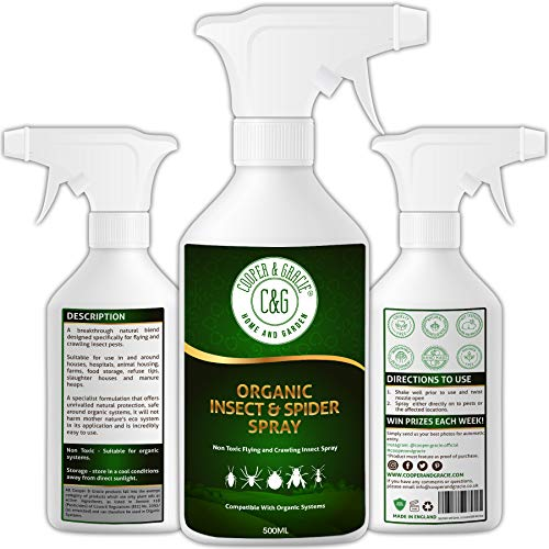 C&G Home and Garden | Insect & Spider Spray 500ML Insecticide repellent for indoor and outdoor I Alternative to Insect killer & Spider Trap