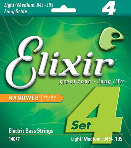 Elixir 14077 - Juego de cuerdas para bajo eléctrico.045-0.105